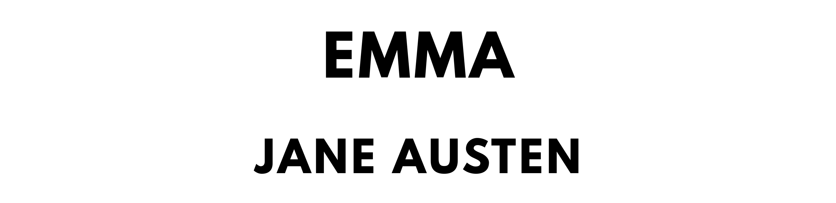 The titlepage for the Standard Ebooks edition of Emma, by Jane Austen